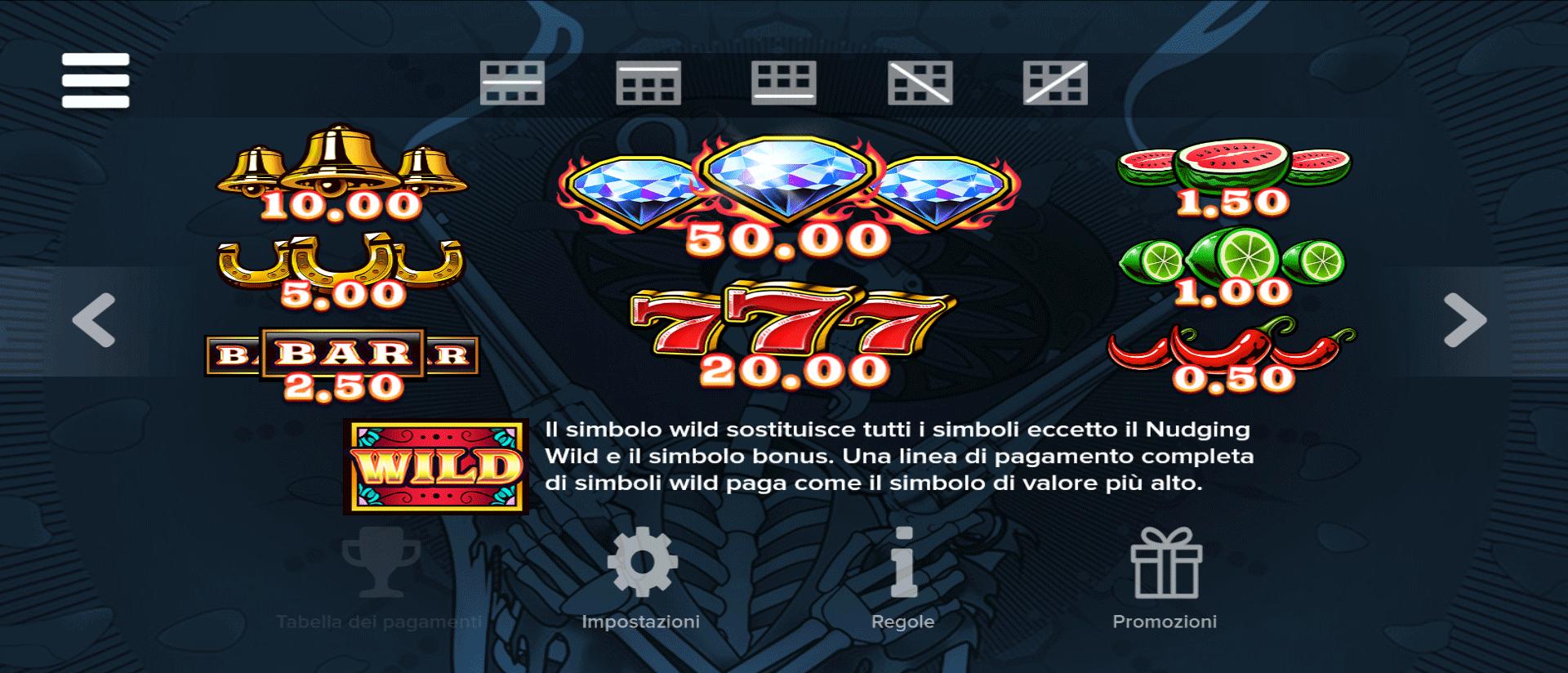 simboli del gioco slot online diablo reels