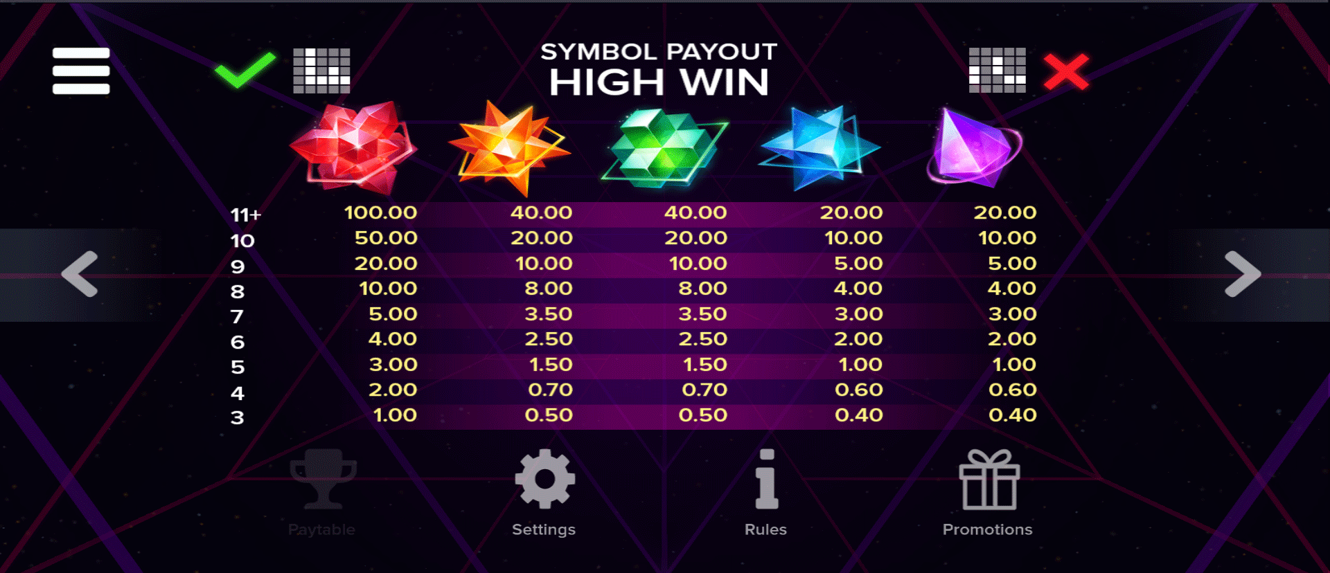 paytable slot online dreamzone