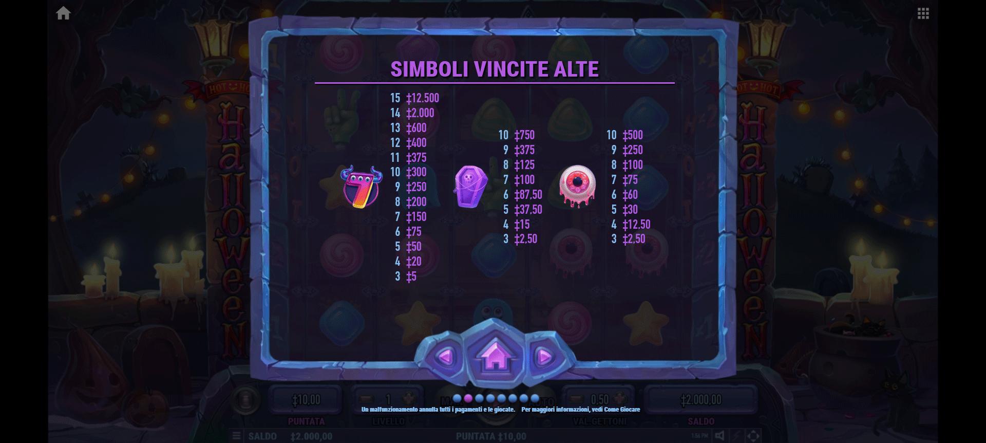 simboli della slot online hot hot halloween