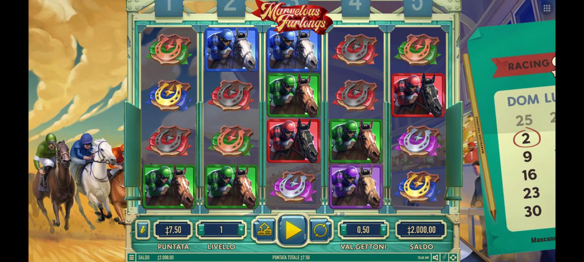 Slot Marvelous Furlongs