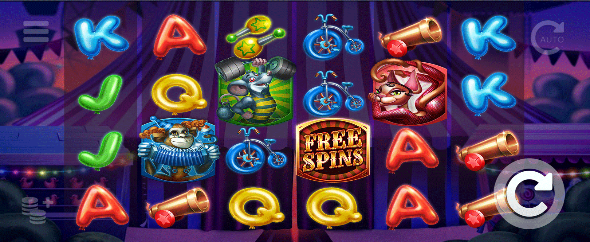 Slot Respin Circus