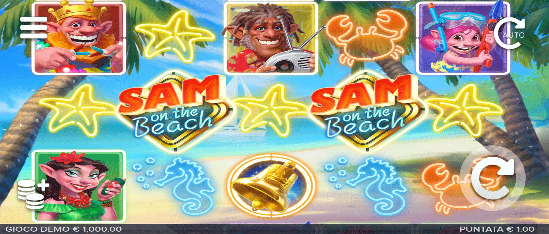 Slot Sam on the Beach