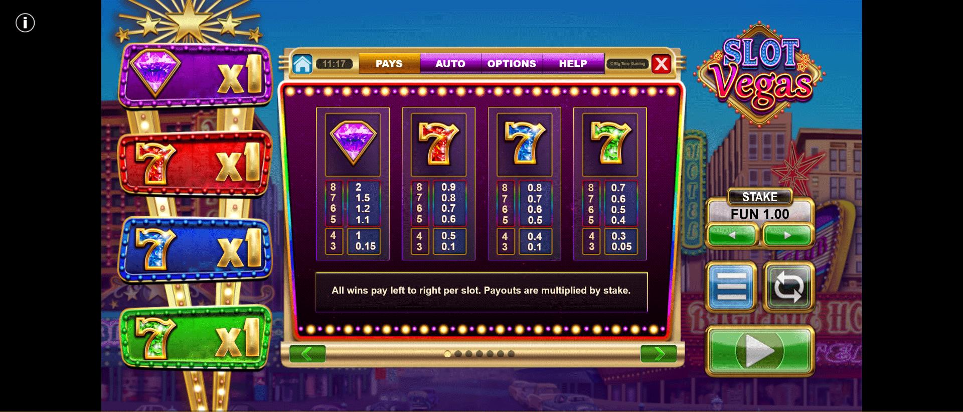 tabella dei pagamenti della slot online slot vegas mega quads