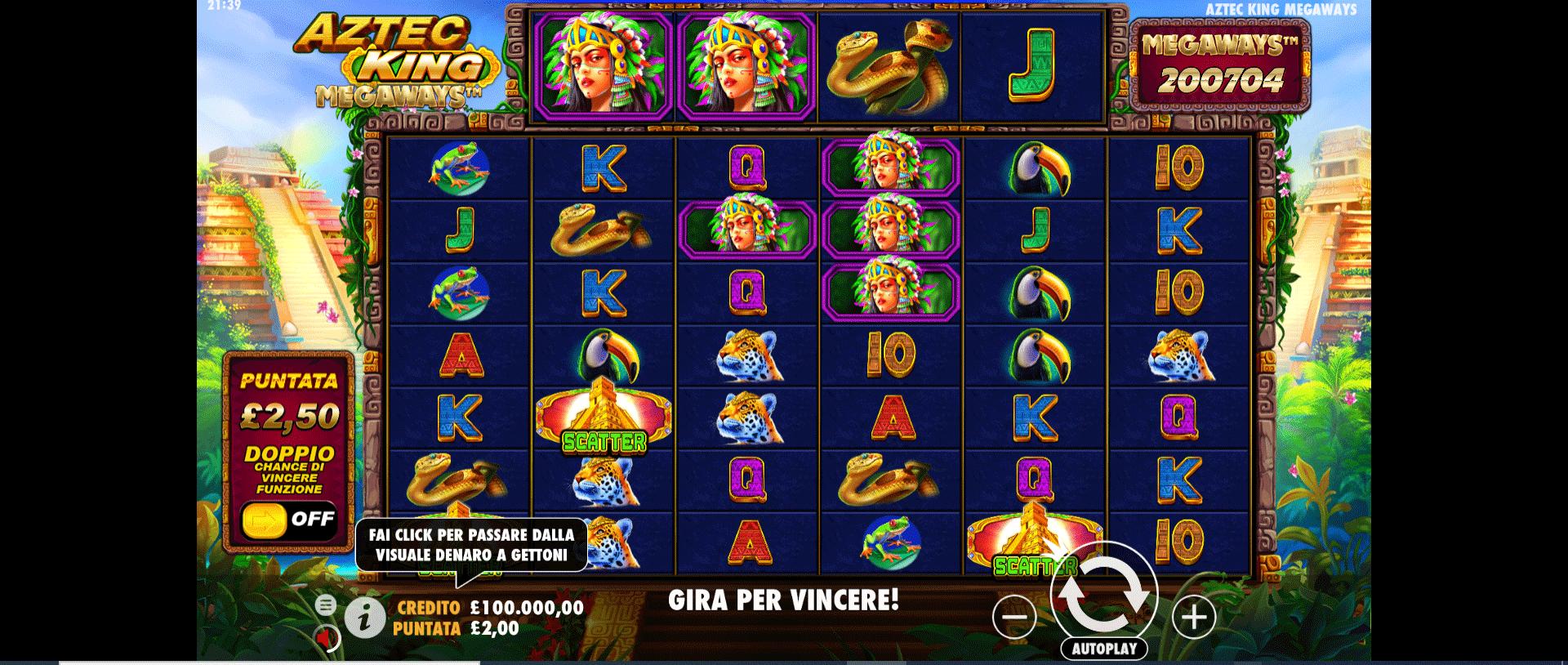 Slot Aztec King Megaways